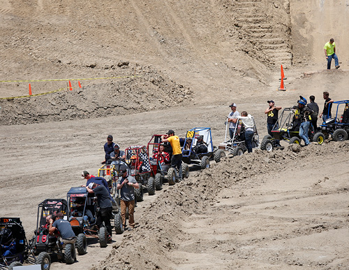 Baja race lined up to start