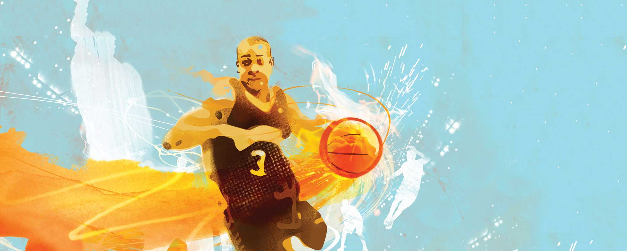 Illustration of C.J. McCollum