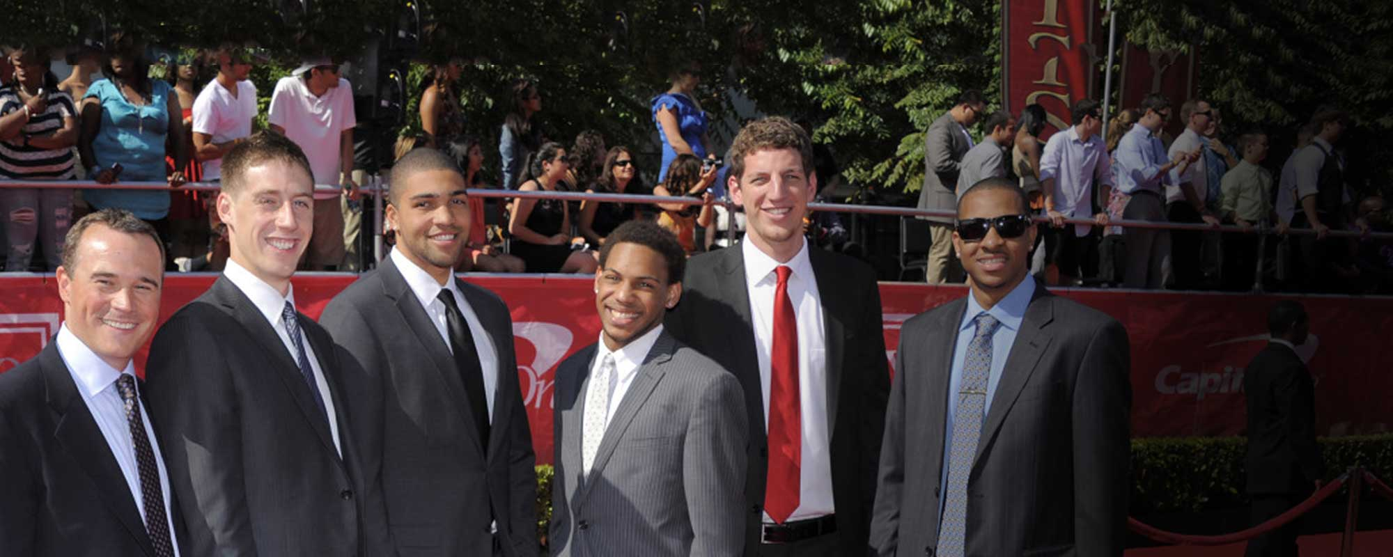 Lehigh basketball team at the ESPY awards