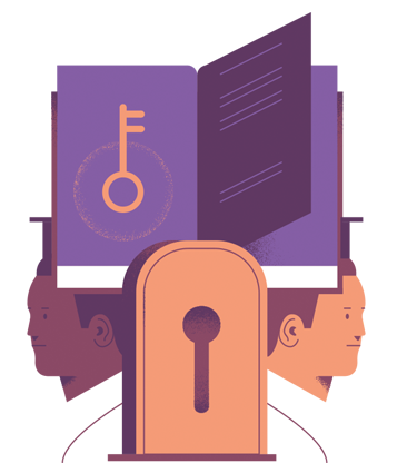Lock and Key/Book and Graduates Graphic