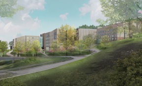 Illustration of Bridge West Residence Hall