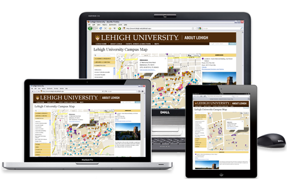 Campus Map on Desktop and Mobile