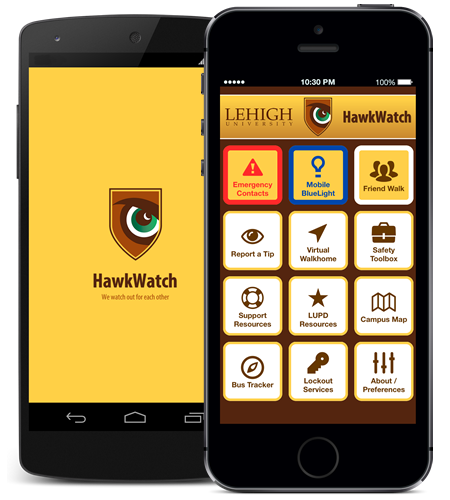 Screenshot of the Hawkwatch app on an iPhone