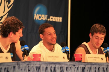 Press conference with Lehigh basketball team