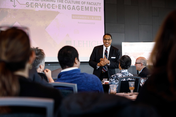 Freeman A. Hrabowski III, president of the University of Maryland Baltimore County, gives the keynote at Summit 2018: Transforming the Culture of Faculty Service Engagement at Lehigh University