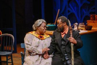 Kashi Johnson and Darius Omar Williams in Gem of the Ocean