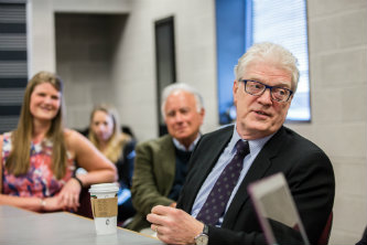 Ken Robinson presents COE's distinguished lecture series