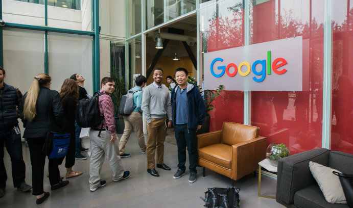 LehighSiliconValley students at Google.
