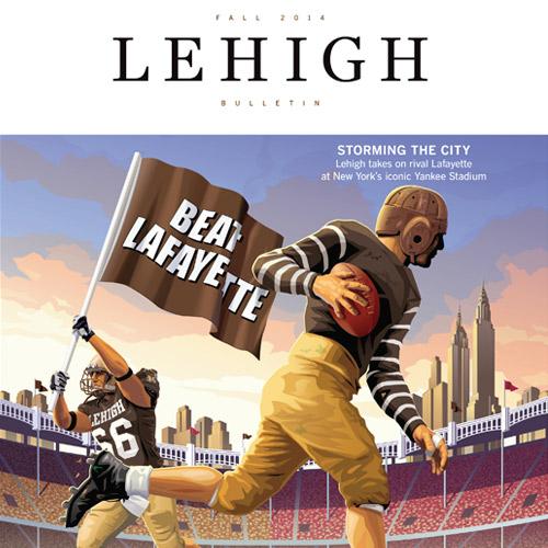 Cover of the Fall 2014 Lehigh Bulletin
