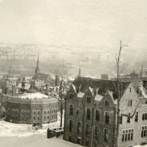 Old photo of Lehigh campus