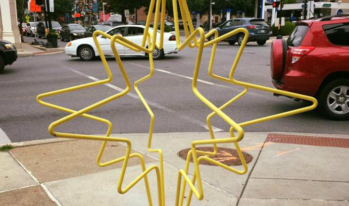 Artistic Bike Racks Installed on South Side