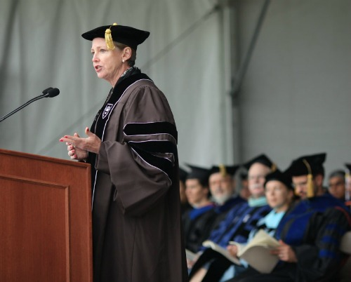 "DuPont Chair and CEO Ellen Kullman told the Class of 2011: ""The problems we face are too big and too complex for anyone to solve alone."""
