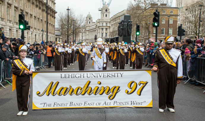 Marching 97 participates in London's New Year's Day parade