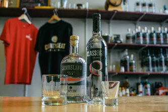 Sand Island Rum and Class 8 Vodka.