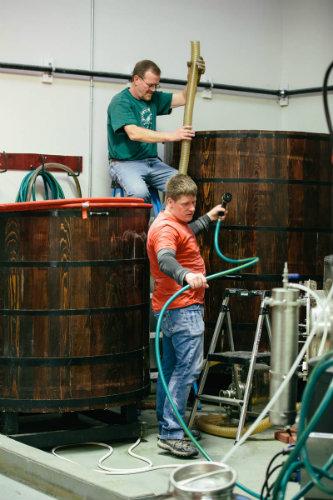 Brichta and Rowe work in distillery