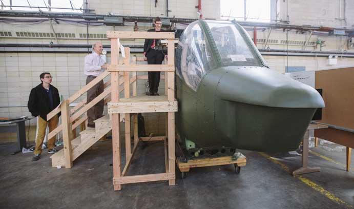 Museum's new flight simulator