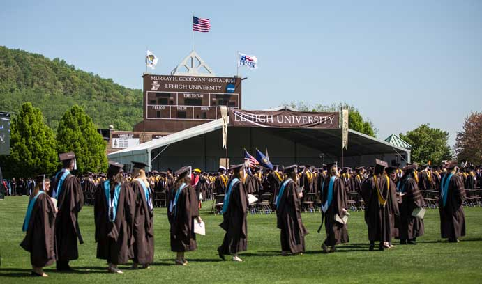 The Class of 2014 gathers in Goodman Stadium for the University's 146th commencement.