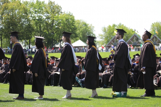 Students in line for ceremony