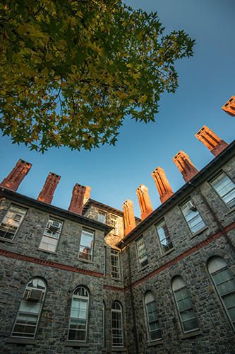 Exterior of a campus building