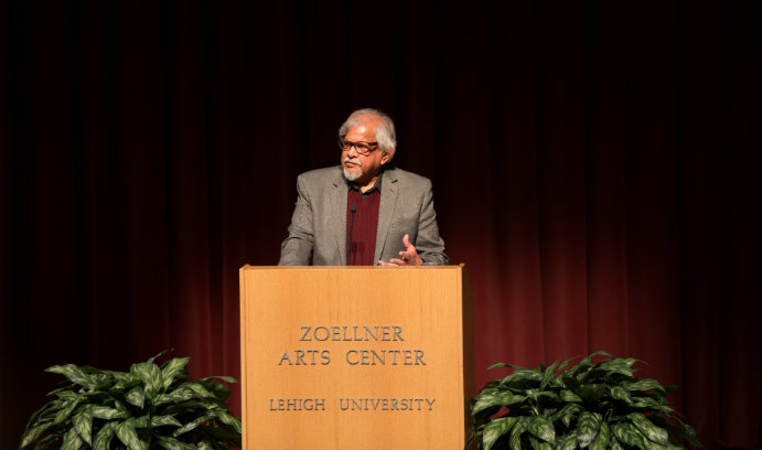 Peace activist Arun Gandhi spoke about nonviolence at Lehigh University's 2017 Kenner Lecture.