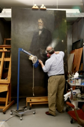 Asa Packer portrait restored