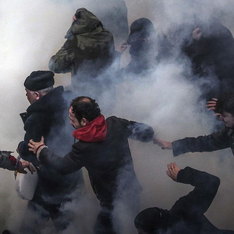 Turkey riot
