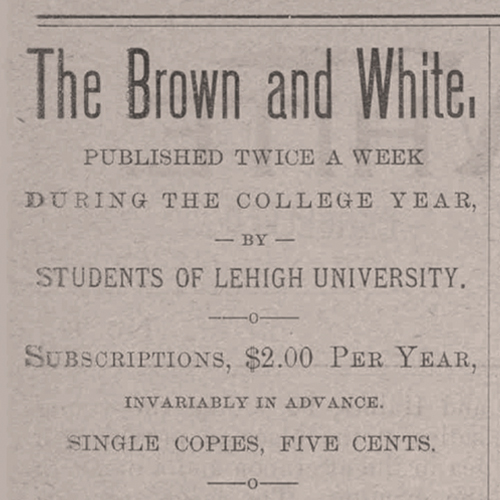 The Brown and White newspaper