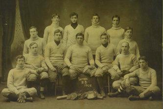 A photo of the 1908 Lehigh University baseball team.