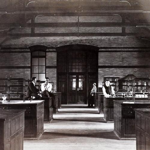 Chemistry lab in Chandler Hall