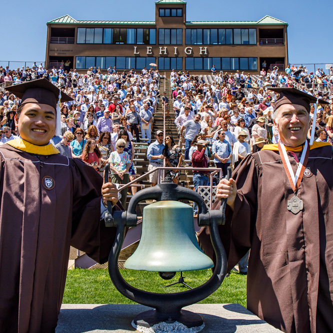 Graduates ring the bell