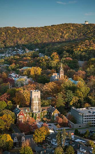 Aerial photo of Lehigh campus