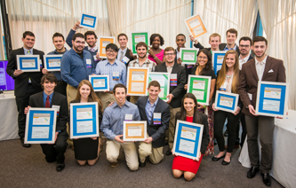 Student winners of the 2014-15 EUREKA! Ventures Competition Series