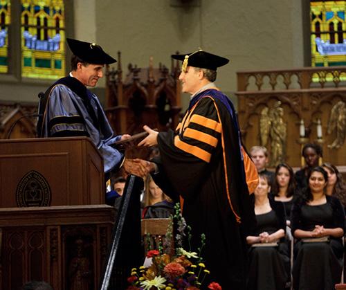 Provost, Pat Farrell presenting an award