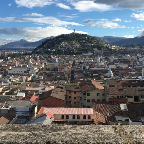 Overhead view of Quito