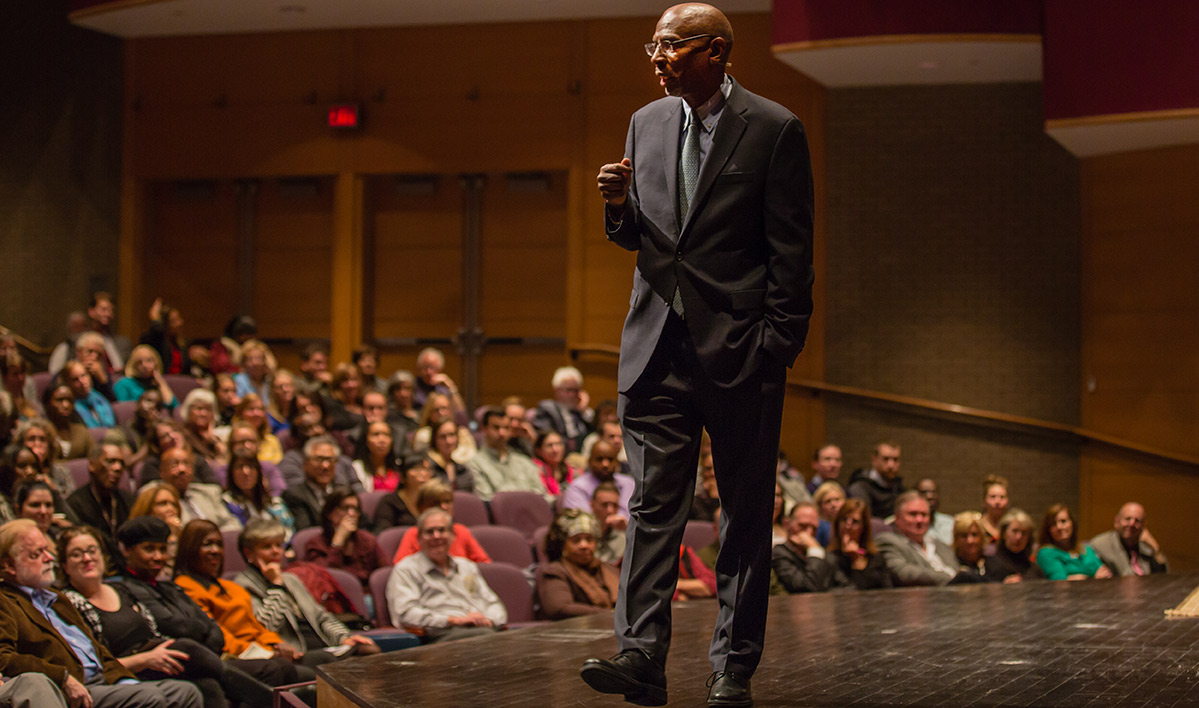 Geoffrey Canada touts education reform in an appearance at Lehigh that was part of the College of Education's Distinguished Lecture Series.