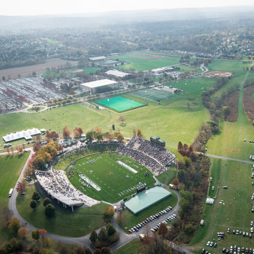 Aerial view of Lehigh's Goodman Campus