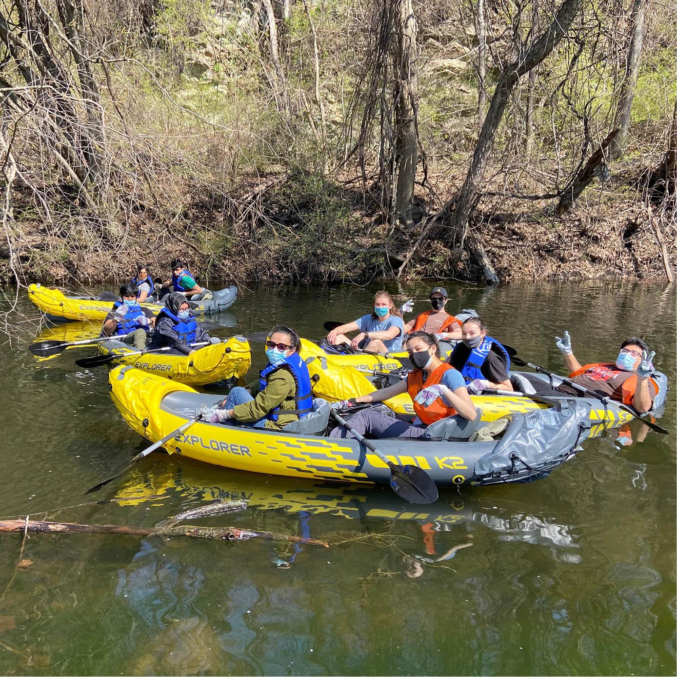 Lehigh graduate students kayaking