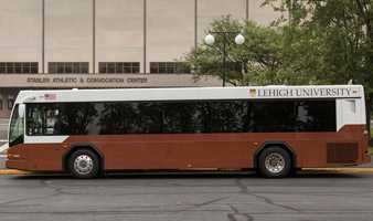 A Lehigh University bus