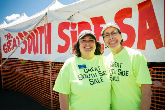 Carolina Hernandez and Kim Carrell-Smith, organizers of Lehigh University's Great South Side Sale