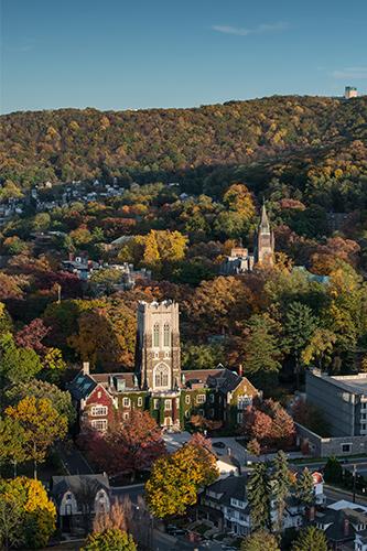 Aerial View of Lehigh University