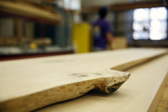 The 300-year-old wood is being used to build conference tables for Williams Hall.