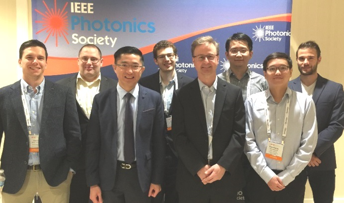 Researchers at IPC included (l-r) Damir Borovac, Eric T. Reid, Nelson Tansu, Austin M. Slosberg, Jonathan J. Wierer, Wei Sun, Chee-Keong Tan and Ioannis E. Fragkos. Not shown: Filbert J. Bartoli and Siddha Pimputkar. (Photo courtesy of Nelson Tansu)
