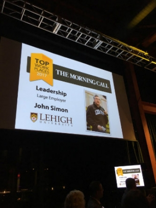 Lehigh is named Lehigh Valley Top Workplace