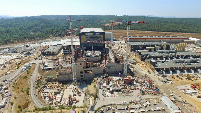Image of the The International Thermonuclear Experimental Reactor (ITER)  in southern France