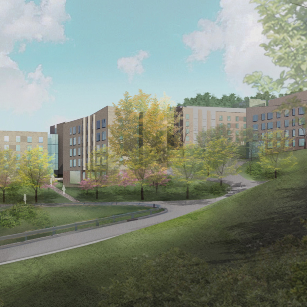 Bridge West Residence Hall Rendering