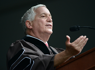 Commencement speaker Walter Isaacson