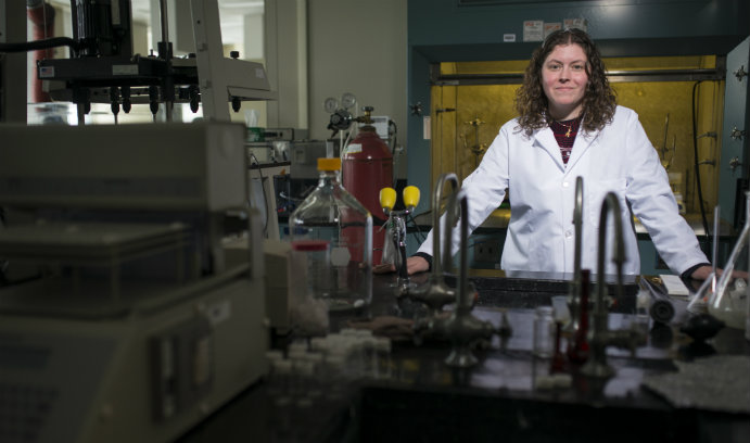 Lehigh University professor Kelly Schultz in lab