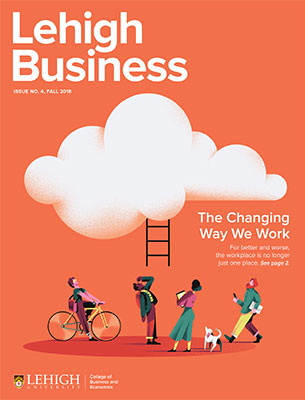 Cover of the Fall 2018 issue of Lehigh Business