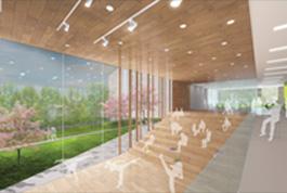 Public space rendering for Bridge West Renovation