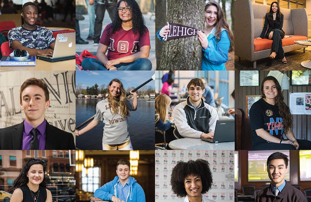 Faces of Lehigh around campus